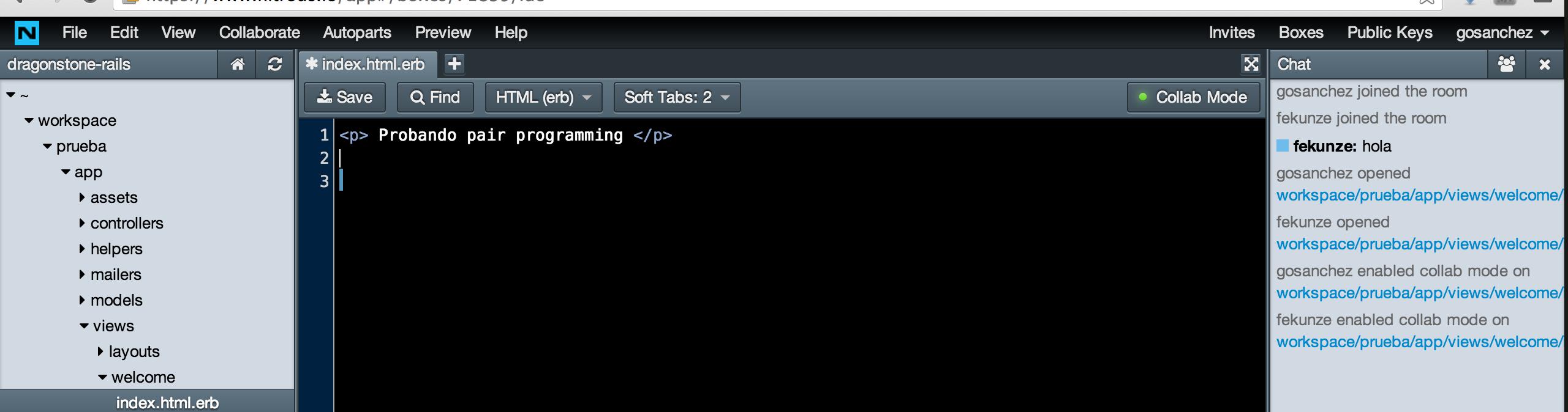 Programación colaborativa en Nitrous