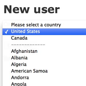 Receta para crear un dropdown de países con ruby on rails