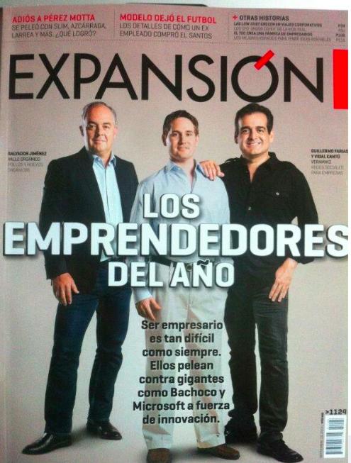 Portada de la Revista Expansión (la revista más importante de negocios en México)