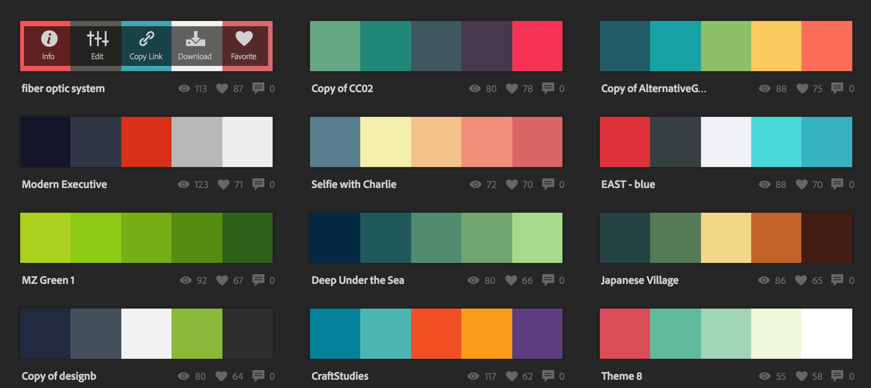 escoger colores