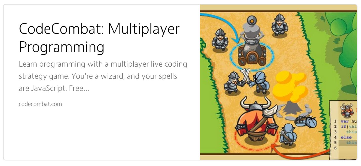 Aprender jugando con Code Combat