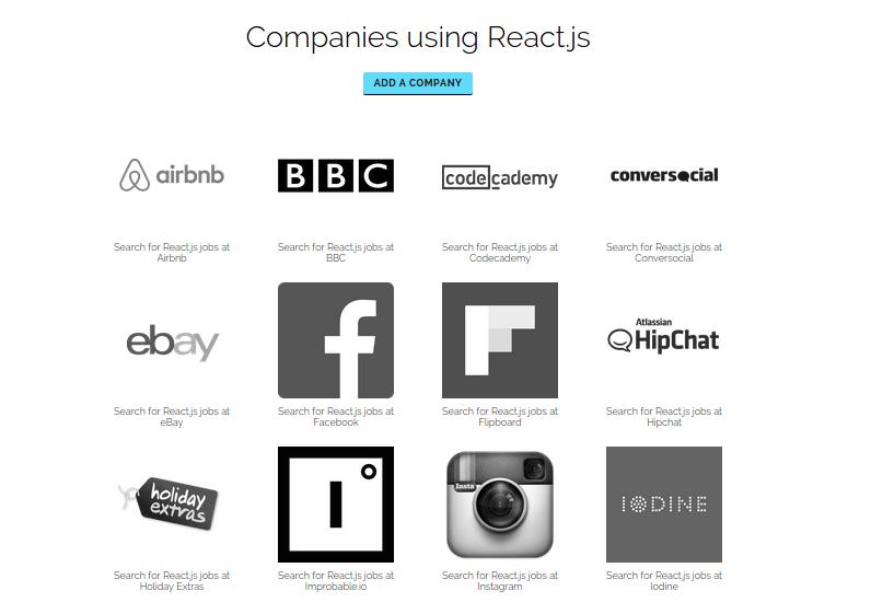 Empresas usando React y contratando en el área